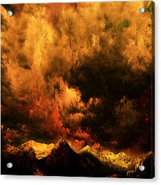 Cascade Storm Acrylic Print by Jeff Burgess