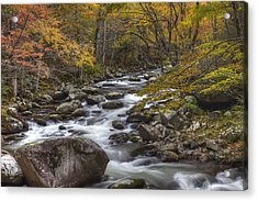 Cascades Of The Mountains Acrylic Print by Jon Glaser