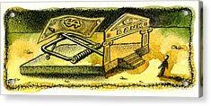 Cash Catch Acrylic Print by Leon Zernitsky