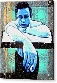 Cash - Preacher Man  Acrylic Print by Bobby Zeik