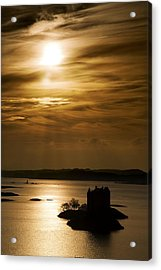 Castle Stalker At Sunset, Loch Laich Acrylic Print by John Short
