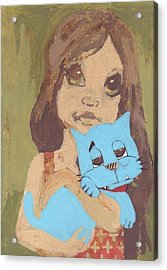 Cat 1 Acrylic Print by William Douglas