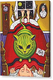 Cat - Alien Abduction Acrylic Print by Rebecca Korpita