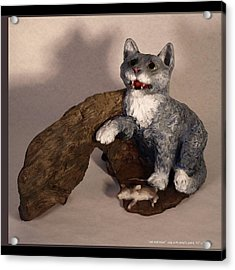Cat And Mice Main View Acrylic Print by Katherine Huck Fernie Howard
