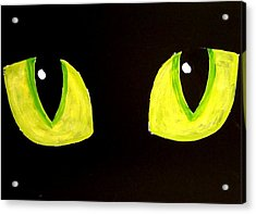 Cat Eyes Acrylic Print by Teo Alfonso