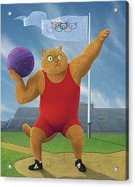 Cat Olympics Acrylic Print by Shai Biran