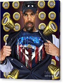 Catching Bullets They Think We Supermen Because Still We Rise Acrylic Print by Reggie Duffie