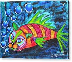 Catfish - Surf N'turf Acrylic Print by Claudia Tuli