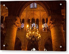 Cathedral Chandelier Acrylic Print by Mick Burkey