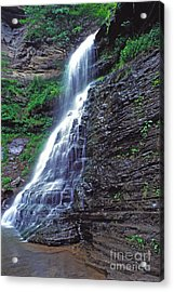 Cathedral Falls In Spring Acrylic Print by Thomas R Fletcher