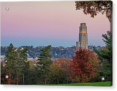 Cathedral Of Learning Acrylic Print by Emmanuel Panagiotakis