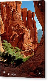 Cathedral Rock 06-124 Acrylic Print by Scott McAllister