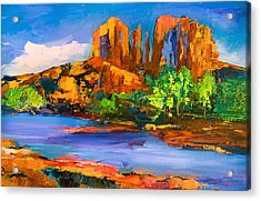 Cathedral Rock Afternoon Acrylic Print by Elise Palmigiani