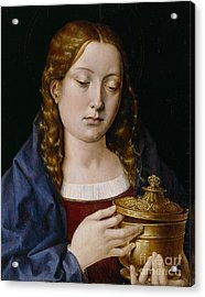 Catherine Of Aragon As The Magdalene Acrylic Print by Michiel Sittow
