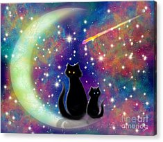 Cats In A Rainbow Universe Acrylic Print by Nick Gustafson