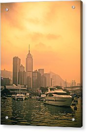 Causeway Bay At Sunset Acrylic Print by Loriental Photography