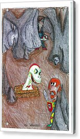Cave Acrylic Print by Jayson Halberstadt