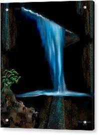 Cave Waterfall Acrylic Print by Tanya Van Gorder