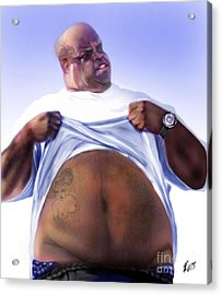 Cee Lo Green-the Day I Lost My Mind Acrylic Print by Reggie Duffie