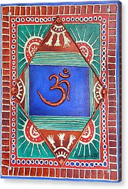 Celebrating Om Acrylic Print by Sandhya Manne