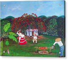 Celebration Acrylic Print by Gloria E Barreto-Rodriguez