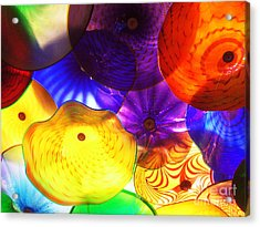 Celestial Glass 3 Acrylic Print by Xueling Zou