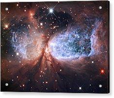 Celestial Snow Angel Acrylic Print by Mark Kiver