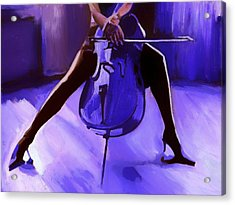 Cello Acrylic Print by Vel Verrept