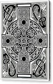Celtic Cross Tapestry Acrylic Print by Morgan Fitzsimons