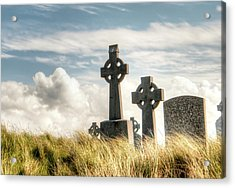 Celtic Grave Markers Acrylic Print by Natasha Bishop