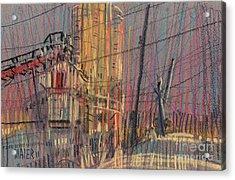 Cement Hopper II Acrylic Print by Donald Maier