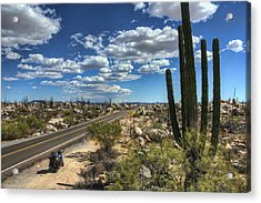 Center Of The Baja Acrylic Print by Rich Beer