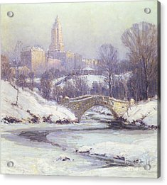 Central Park Acrylic Print by Colin Campbell Cooper