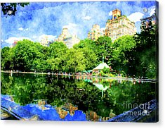 Central Park Acrylic Print by Julie Lueders