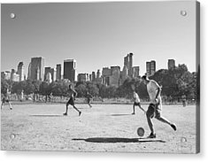 Central Park Acrylic Print by Robert Lacy