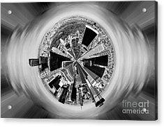 Central Park View Bw Acrylic Print by Az Jackson