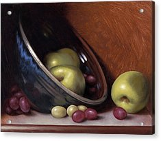 Ceramic Bowl With Apples Acrylic Print by Timothy Jones