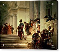 Cesare Borgia Leaving The Vatican Acrylic Print by Giuseppe Lorenzo Gatteri
