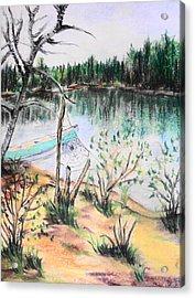 Chain Lakes Duck Mountain Mb Acrylic Print by Janice Robertson