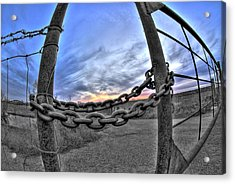 Chained Sky Acrylic Print by Tom Melo