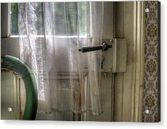 Chair Door Acrylic Print by Nathan Wright