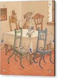Chair Race Acrylic Print by Kestutis Kasparavicius