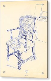 Chair Acrylic Print by Ron Bissett