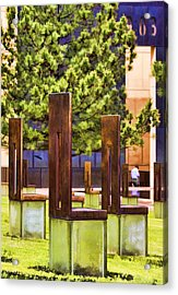 Chairs At The Gate Acrylic Print by Ricky Barnard