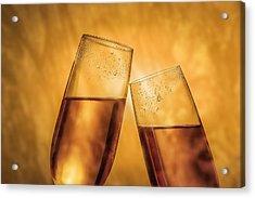 Champagne Toast Acrylic Print by Tom Mc Nemar