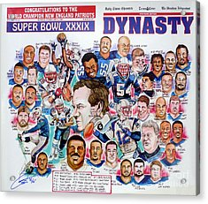 Championship Patriots Newspaper Poster Acrylic Print by Dave Olsen