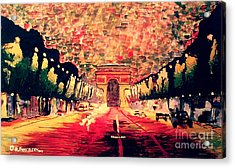 Champs-elysee  Acrylic Print by Moscolexy Moscolexy