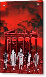 Chance Encounter In The City Of The Dead Acrylic Print by Mark Myers