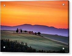 Chapel And Farmhouse In Tuscany Acrylic Print by Andrew Soundarajan