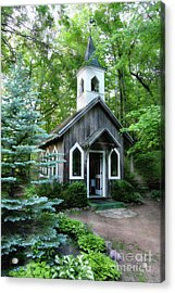 Acrylic Print featuring the photograph Chapel In The Woods by Joel Witmeyer